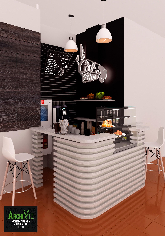 Дизайн кафе Зебра